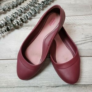 CROCS Pink Waterproof Flats